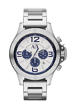 A|X Blue Chrono Bracelet Watch