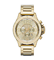 A X Gold Chrono Bracelet Watch