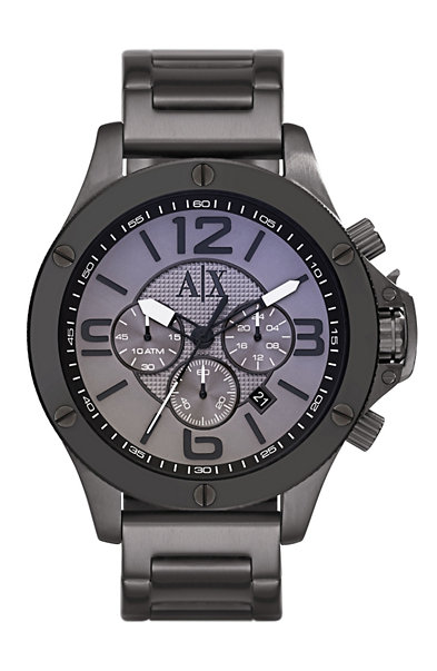 Large Case Gunmetal Watch