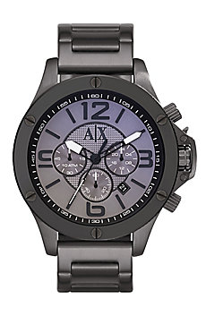 Large Case Gunmetal Watch