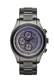 Perforated Gunmetal Watch