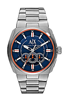 Contrast Chronograph Stainless Steel Watch