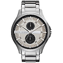 Silver Chronograph Bracelet Watch