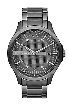 Grey Round Watch