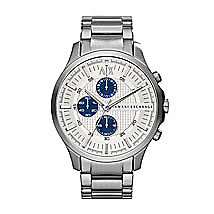 Large Silver Chronograph Watch