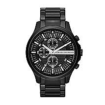 Large Black Chronograph Watch