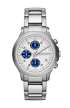 Silver Chronograph Watch