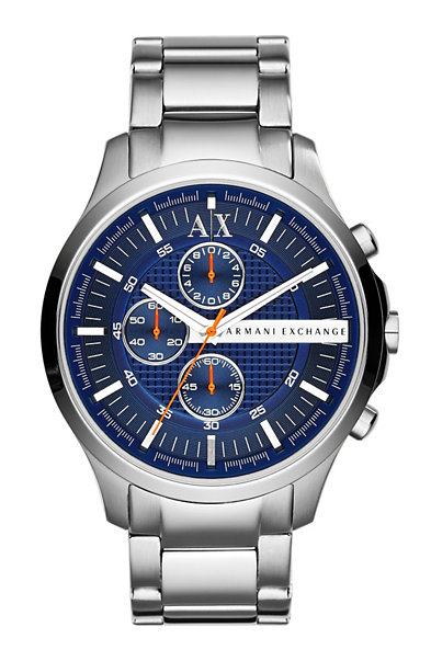 Blue Dial Logo Watch