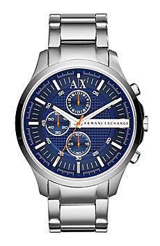 Blue Dial Logo Watch