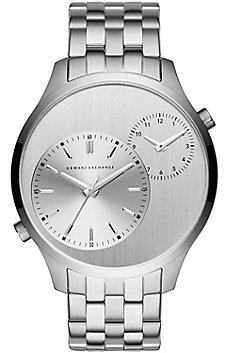 Silver Dual-Movement Watch