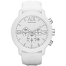 White Canvas Chrono Watch