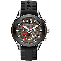 A|X Silicone Strap Chronograph Watch
