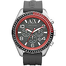 A|X Rubber Strap Chronograph Watch