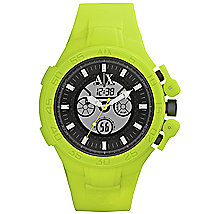 Neon Yellow Rubber Watch