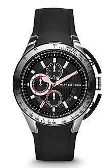 Round Chronograph Silicone Strap Watch