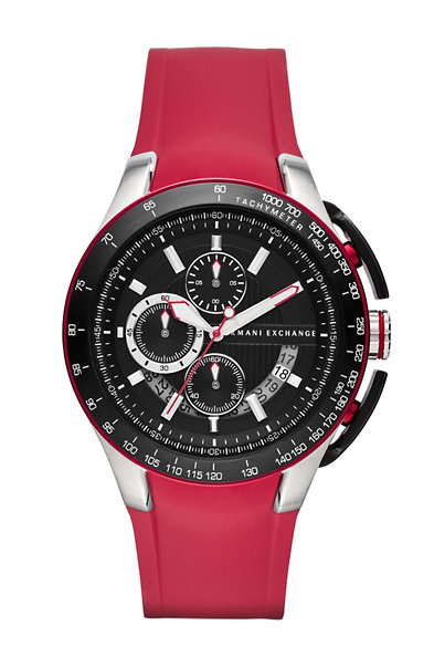 Zero Light Red Rubber Strap Watch
