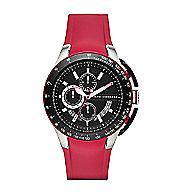 Zero Light Red Rubber Strap Watch