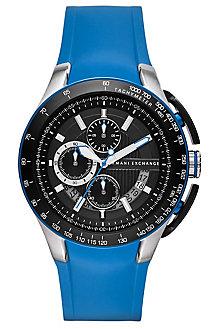 Zero Light Blue Rubber Strap Watch