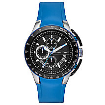 Zero Light Blue Rubber Strap Watch