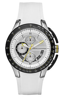 Zero Light White Rubber Strap Watch
