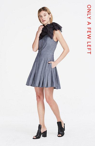 Denim Fit & Flare Dress